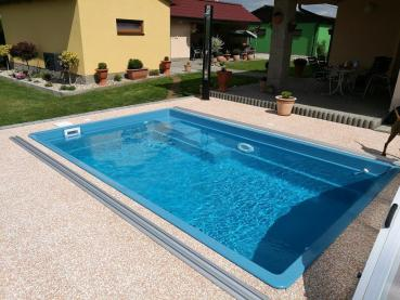 Set Fieberglas Pool Smart 4,6m x 3,0m x 1,2m